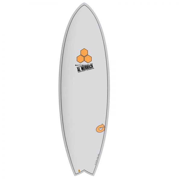 Surfboard CHANNEL ISLANDS X-lite Pod Mod 6.2 grau