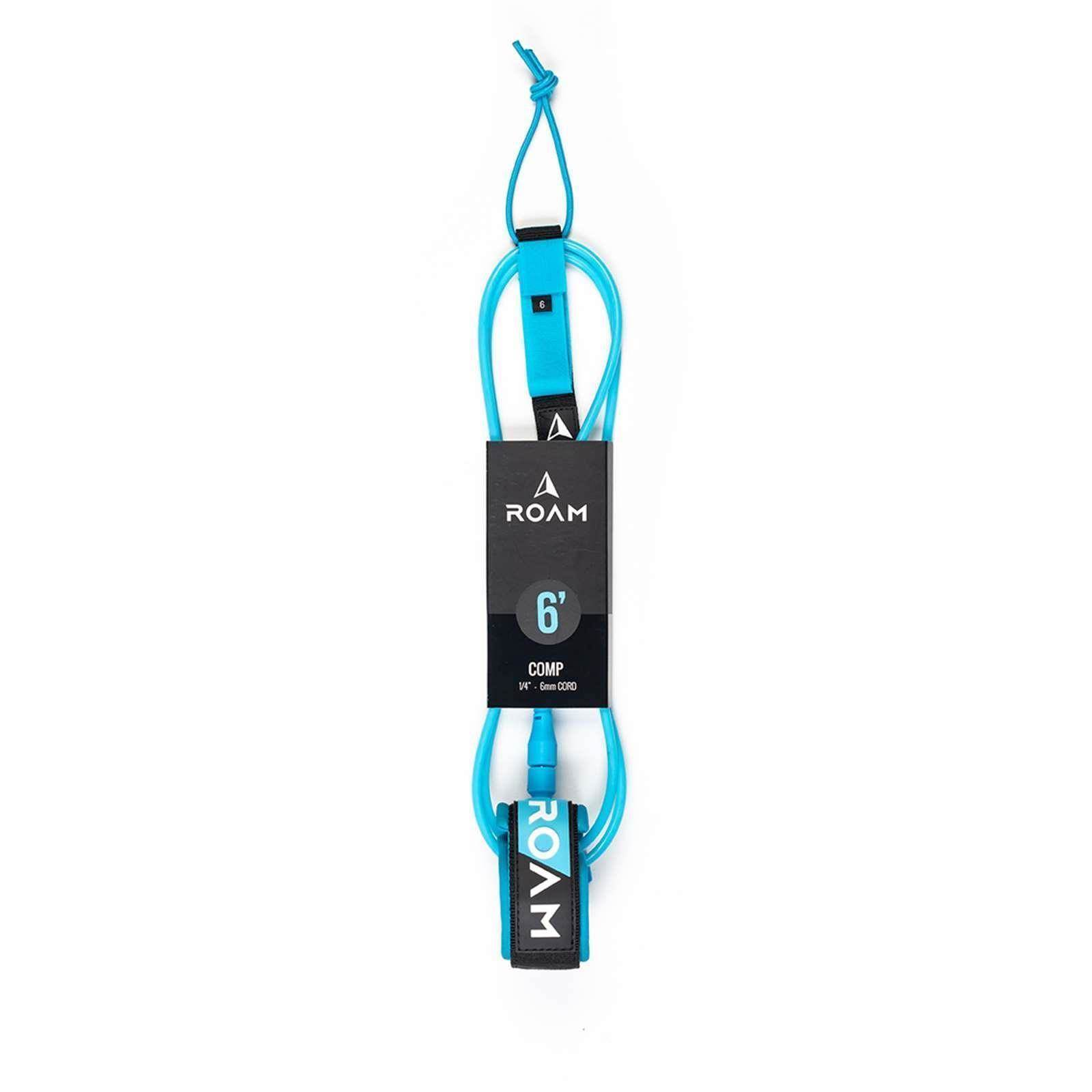 ROAM Surfboard Leash Comp 6.0 183cm 6mm Blau